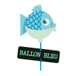 logo collection ballon bleu