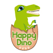 logo collection happy dino